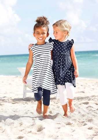 KIDSWORLD Jerseykleid, (Packung, 2 tlg.), mit Streifen und Punkten kaufen