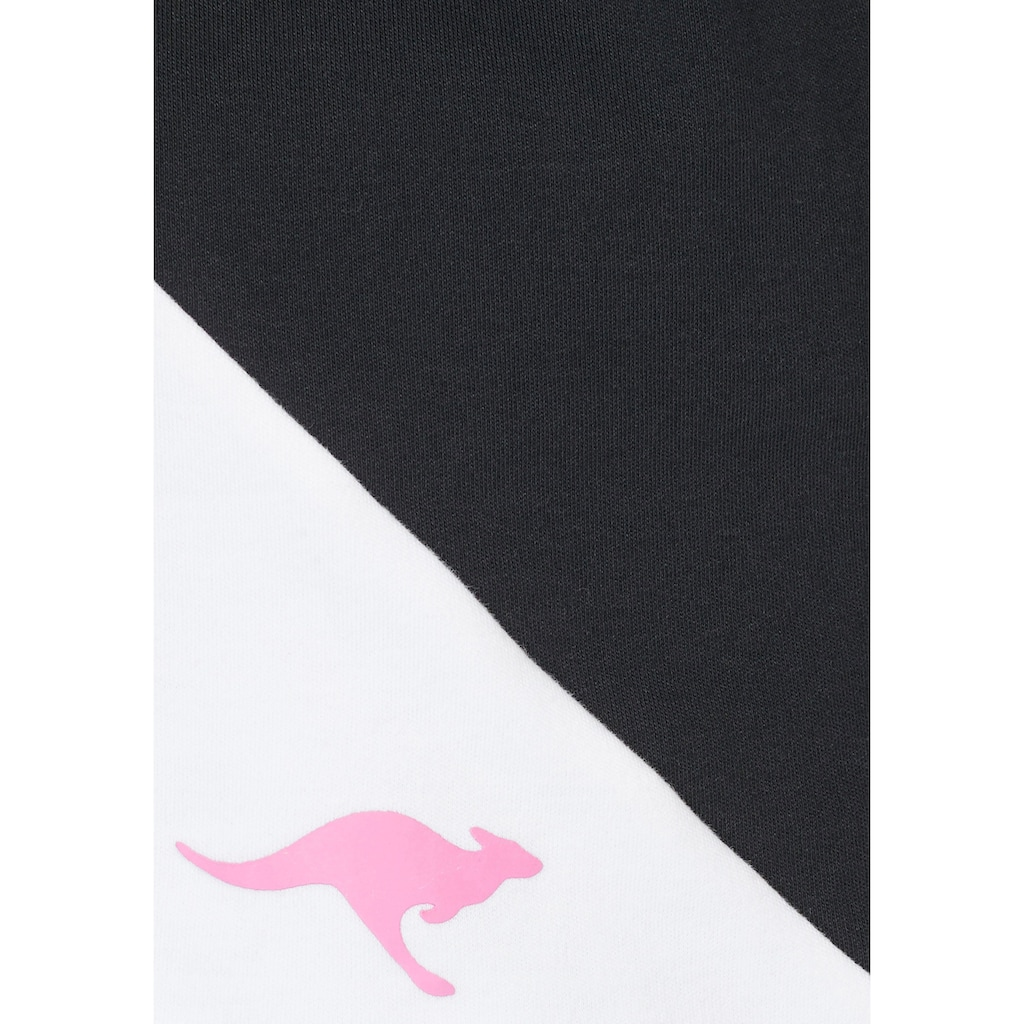 KangaROOS Sweatshirt, im modischen Color-Blocking