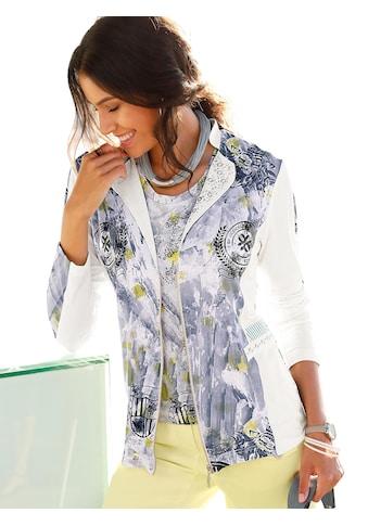 Classic Inspirationen Shirtjacke mit Ziersteinchen und Nieten am Kragen kaufen