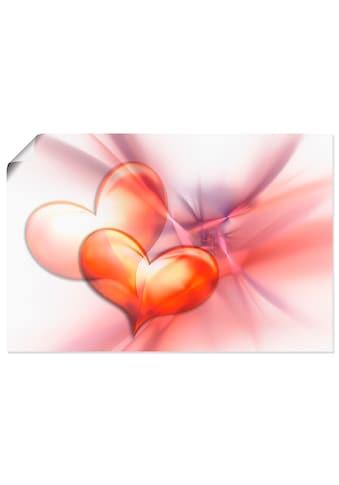 Artland Wandbild »Das höchste Glück«, Herzen, (1 St.), in vielen Grössen &... kaufen