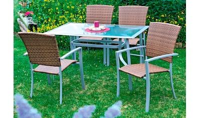 MERXX Gartenstuhl »Savonna«, Polyrattan, stapelbar kaufen