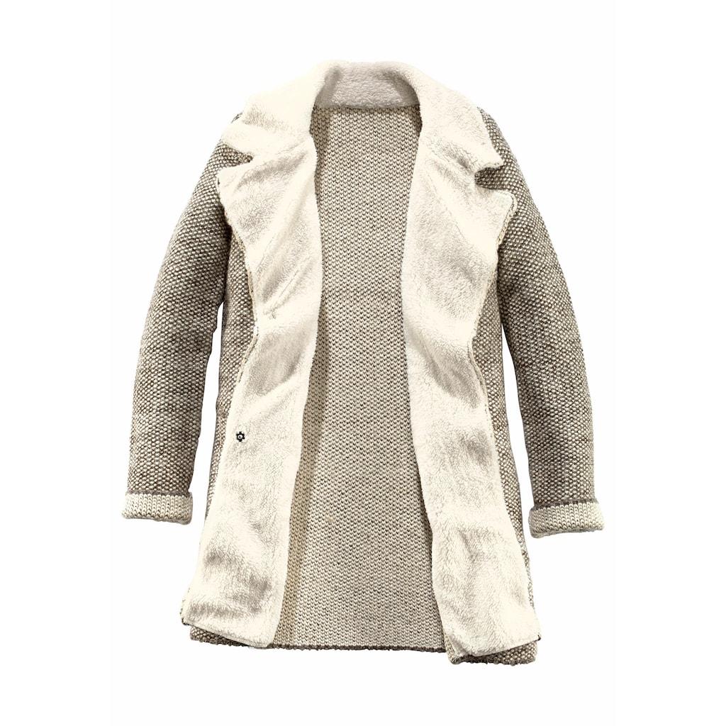 Aniston CASUAL Strickmantel, mit Reverskragen