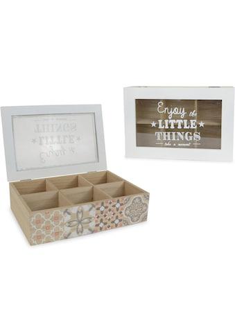 Aufbewahrungsbox, mit 6 Fächern und Schriftzug kaufen
