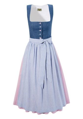 Love Nature Dirndl, (2 tlg.), midi mit Leinenmieder in Jeans-Optik - Made in Austria kaufen