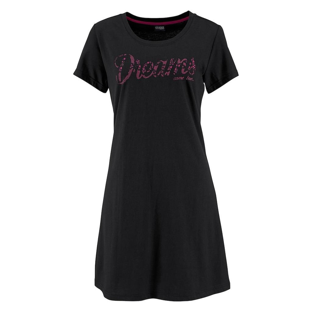 Vivance Dreams Sleepshirt, (2er-Pack), mit Print in Spitzenoptik