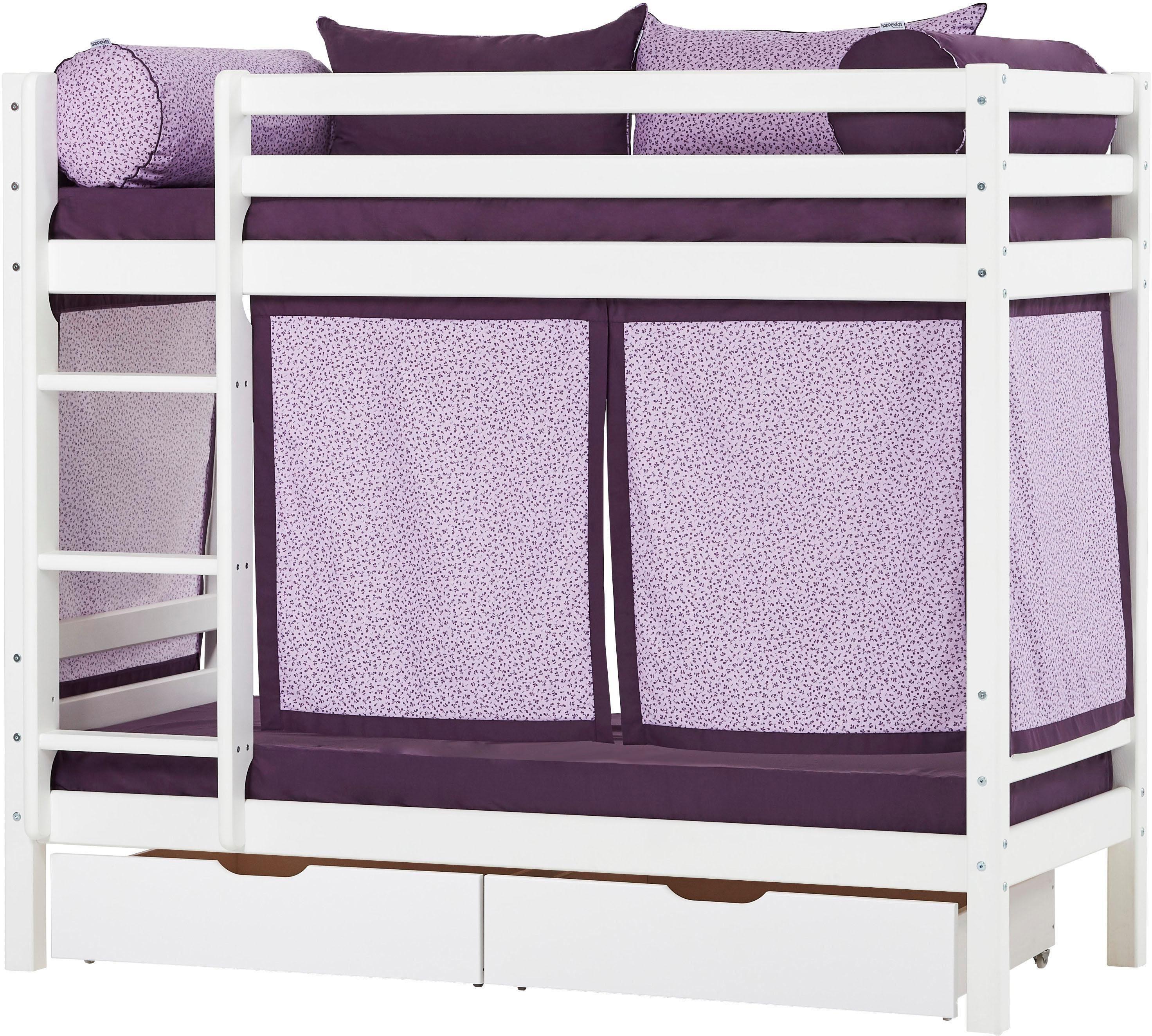 Image of Hoppekids Etagenbett »Beautiful Bloom« (Set, 4 Teile, Bett, Vorhang und zwei Matratzen)