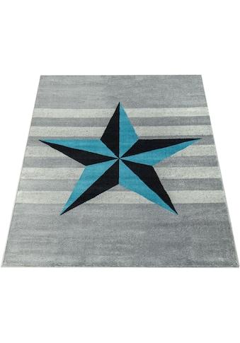 Paco Home Teppich »Sinai 076«, rechteckig, 9 mm Höhe, Kurzflor mit Stern Motiv kaufen