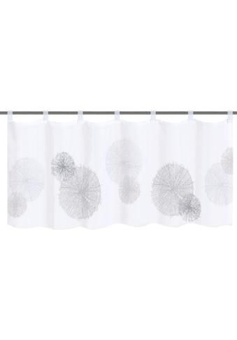 HOME WOHNIDEEN Scheibengardine »RAWLINS«, HxB: 45x120, Cafehaus Voile Digitaldruck kaufen