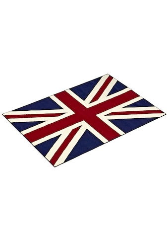 HANSE Home Teppich »Union Jack«, rechteckig, 9 mm Höhe, Dichter Flor, Wohnzimmer kaufen