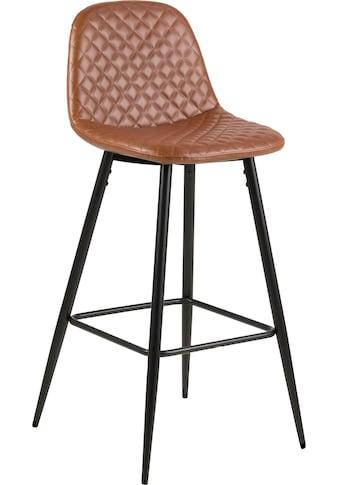 andas Barhocker »Willy«, Gestell aus Metall, Sitzpolsterung aus pflegeleichten Kunstleder, oder Webstoff, Sitzhöhe 73 cm kaufen