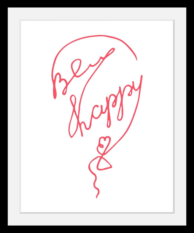 Image of Bild »Be Happy«