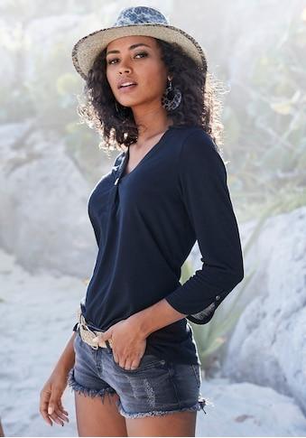 LASCANA 3/4-Arm-Shirt, mit modischen Ärmeldetails kaufen