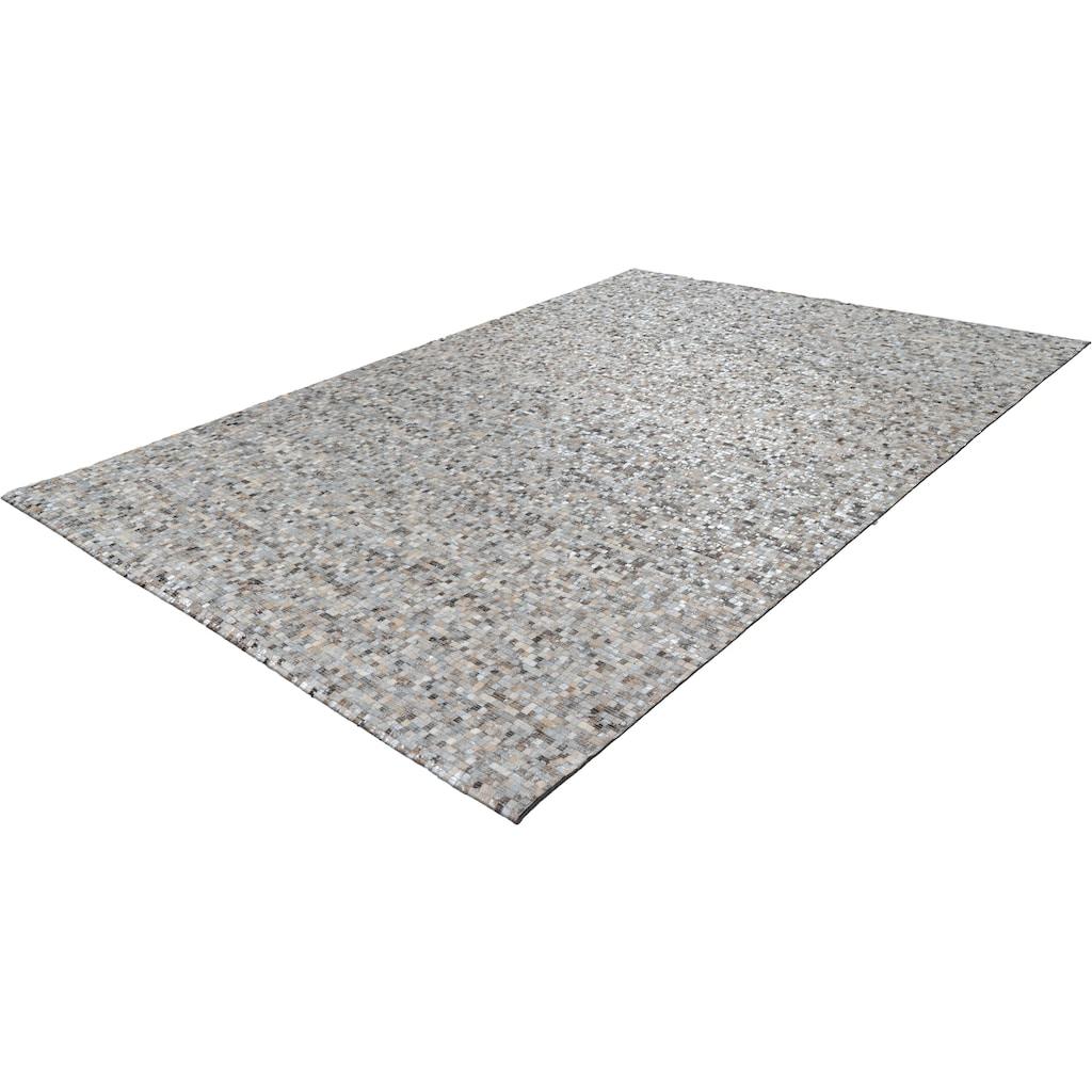 Arte Espina Lederteppich »Finish 100«, rechteckig, 5 mm Höhe, echtes Kuhfell, Wohnzimmer