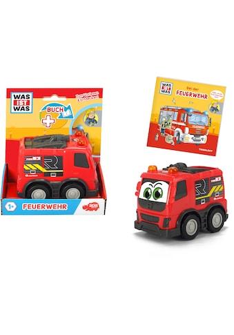 Dickie Toys Spielzeug-Feuerwehr »Was ist Was - Feuerwehr«, inkl. Buch kaufen