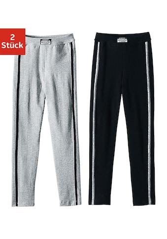 AUTHENTIC UNDERWEAR Leggings, (2er-Pack), ideal für kalte Tage, mit sportlichen Streifen seitlich kaufen