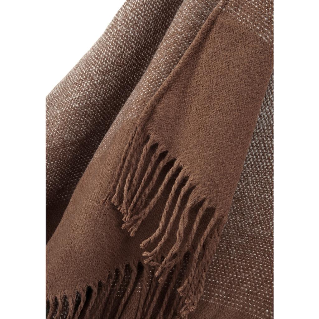 LASCANA XXL-Schal, Poncho in feiner Strickqualität und vielseitig tragbar