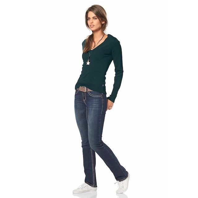 Arizona Gerade Jeans »Kontrastnähte«