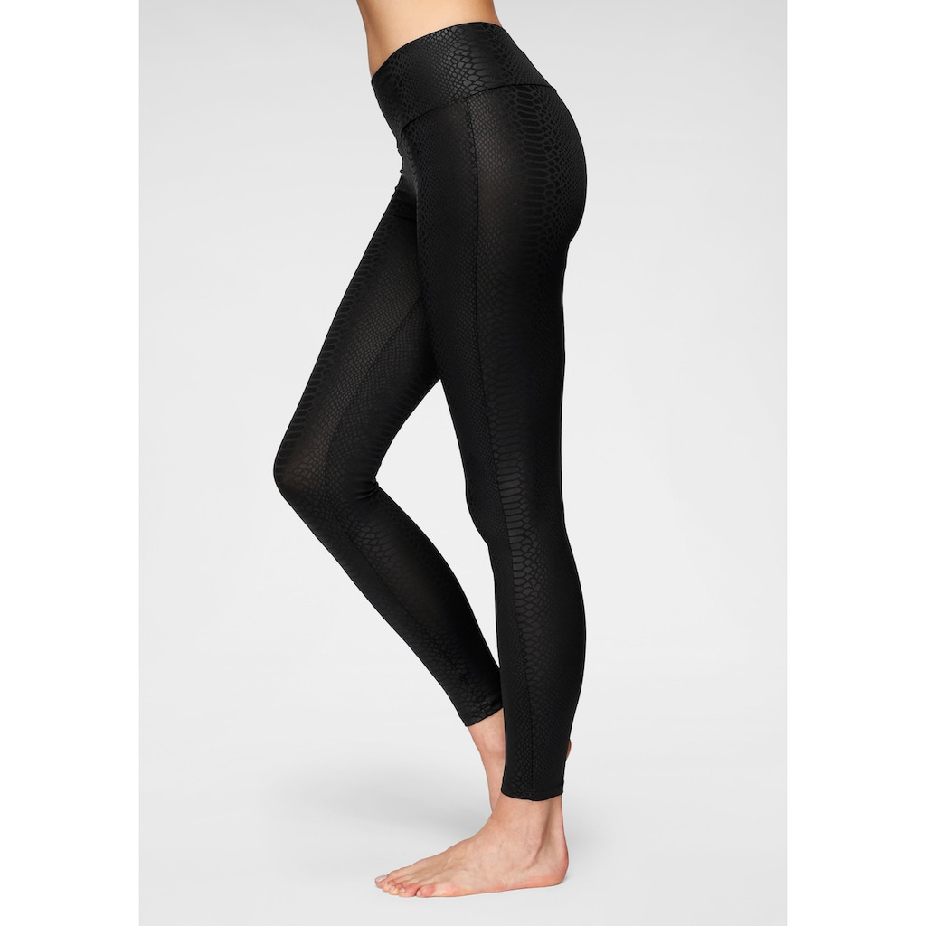 LASCANA ACTIVE Leggings, mit Ton-in-Ton Schlangenmuster