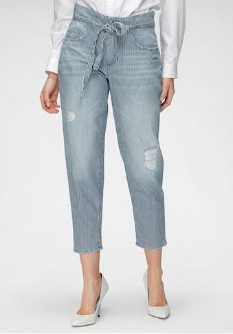 MAC Ankle-Jeans »Mina Stripe«, Mit unterlegten Destroyed-Effekten kaufen