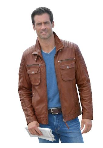 Mainpol Leder - Jacke mit markanten Steppnähten kaufen