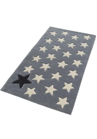 Rock STAR Baby Teppich »711«, rechteckig, 10 mm Höhe, handgearbeiteter Konturenschnitt, Hoch-Tief-Struktur kaufen