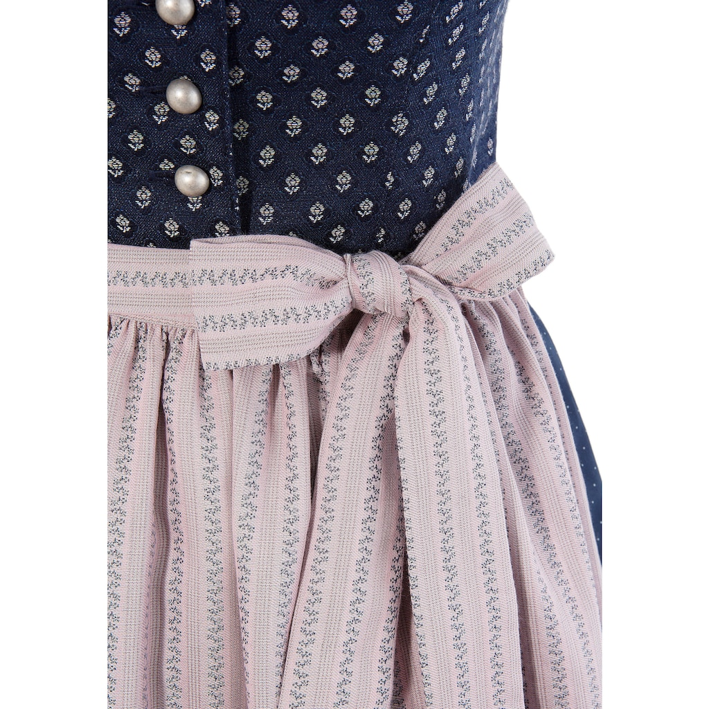 Love Nature Dirndl, (2 tlg.), midi mit traditionellem Rankenmuster - Made in Austria
