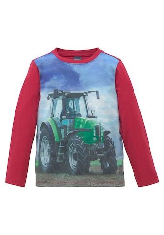 Arizona Langarmshirt »Landschaft mit Traktor« kaufen