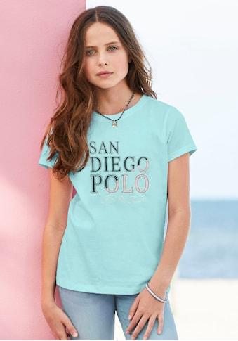 TOM TAILOR Polo Team T-Shirt, mit coolem Druck kaufen