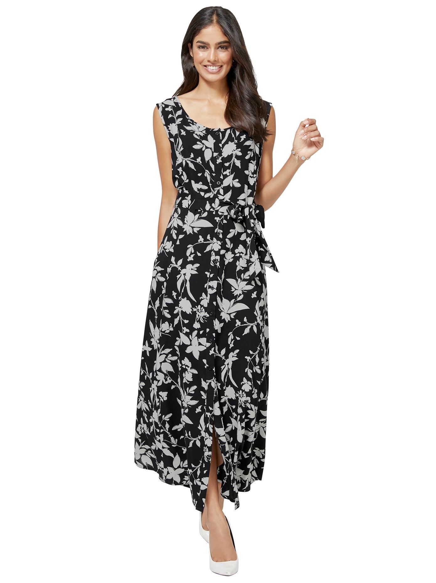 Image of Alessa W. Collection Kleid mit floralem Kontrast-Druck
