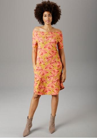 Aniston SELECTED Sommerkleid, mit Carmen-Ausschnitt - NEUE KOLLEKTION kaufen