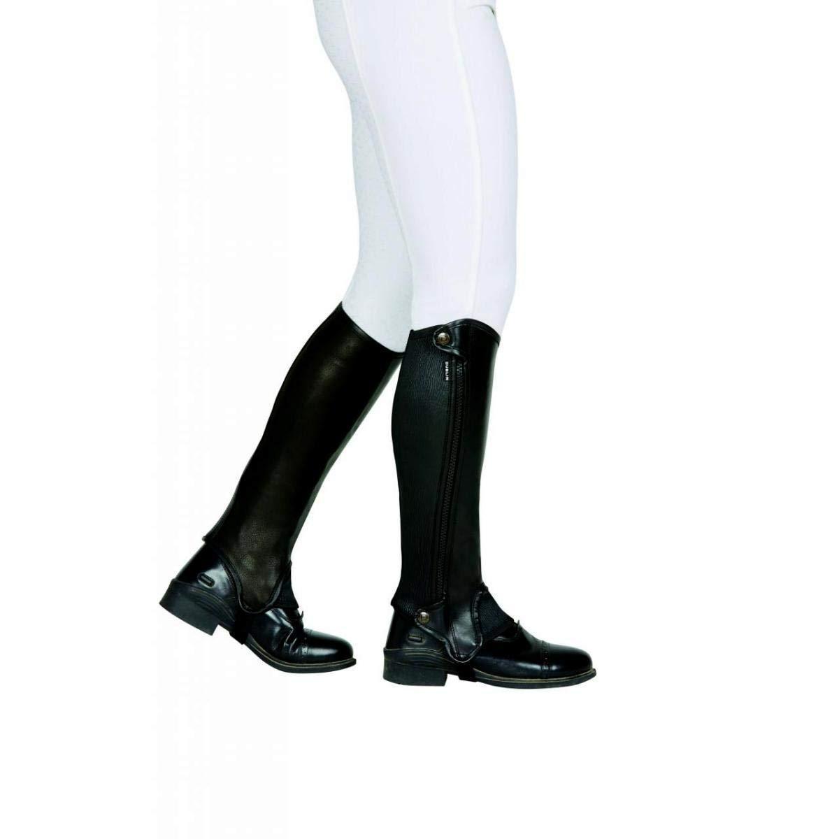 Image of Dublin Beinstulpen »Evolution Halblange Leder-Chaps mit seitlichem Reissverschluss, für Erwachsene«