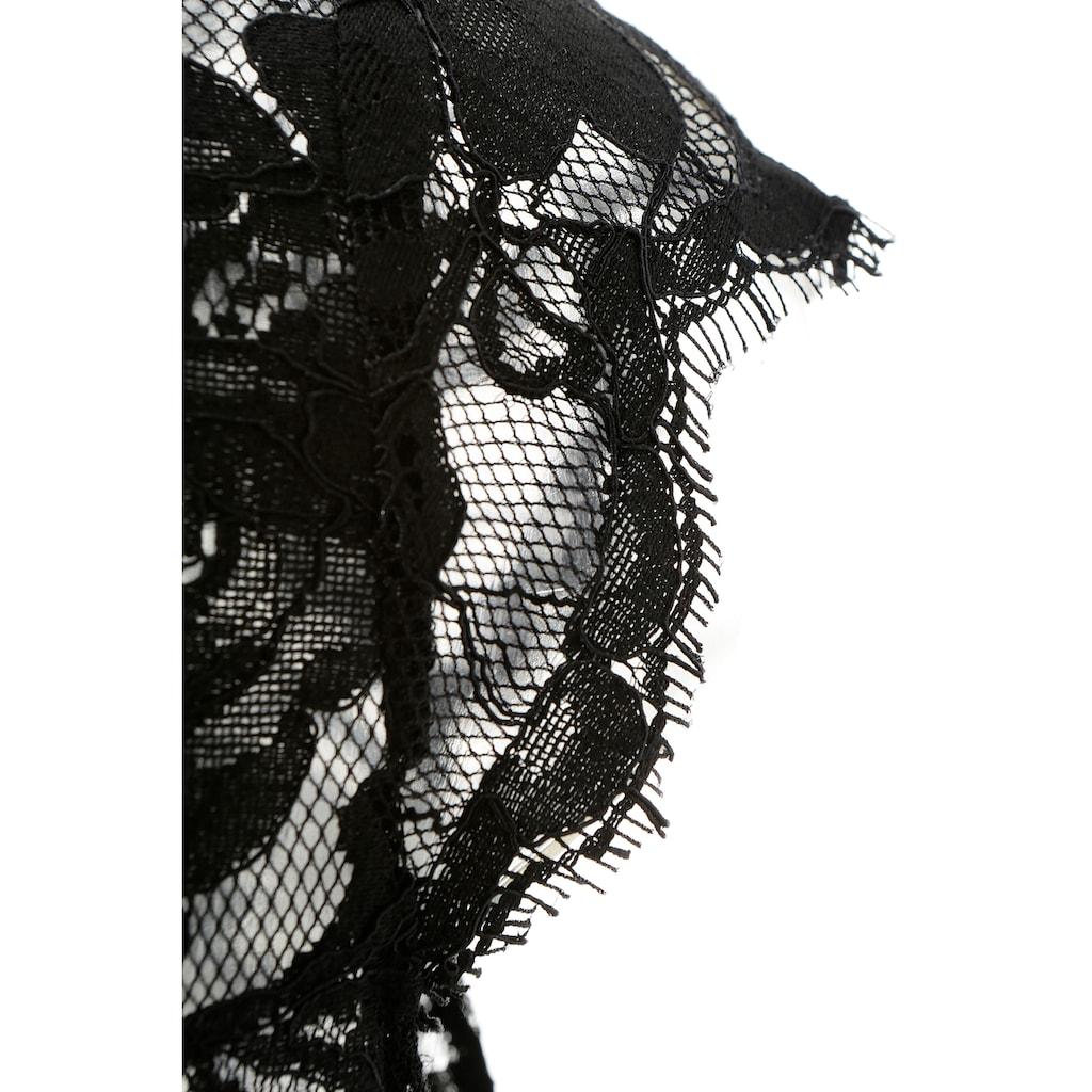 Spieth & Wensky Dirndlbluse, aus elastischer Spitze