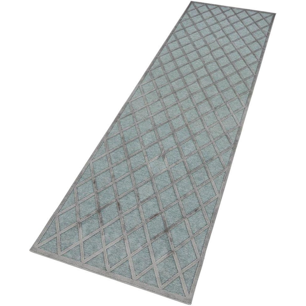 MINT RUGS Läufer »Danton«, rechteckig, 4 mm Höhe, Hoch-Tief-Effekt