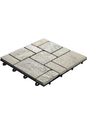 florco® Terrassenplatten »Quarz grau 30 x 30, 4 Stk.« kaufen