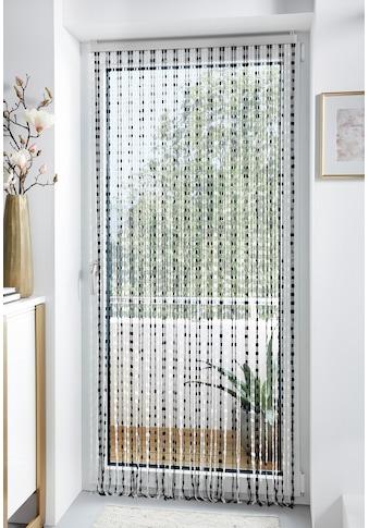 locker Türvorhang »Pearl«, Kunststoff, transparent/schwarz, 72 Stränge kaufen