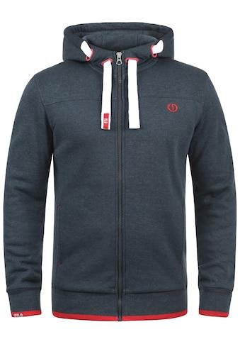 Solid Kapuzensweatjacke »BenjaminZip«, Sweatshirtjacke mit weicher Fleece Innenseite kaufen