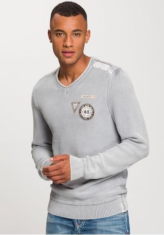 CAMP DAVID V - Ausschnitt - Pullover kaufen