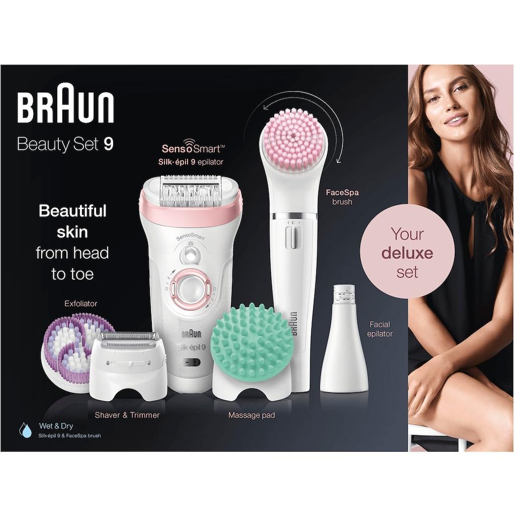 Braun Epilierer »Silk-épil Deluxe Beauty-Set 9-995 9-in-1«, für Gesicht und Körper