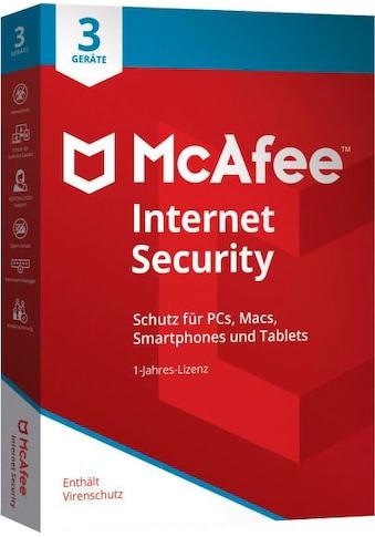 McAfee Virensoftware »McAfee Internet Security 3 Geräte - 1 Jahr«, in a Box kaufen
