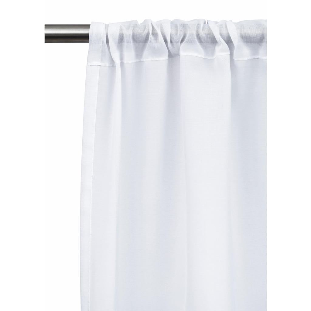 my home Scheibengardine »Idaho«, Fertiggardine, Mit Spitze, transparent