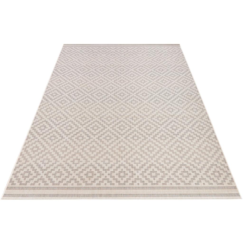 bougari Teppich »Raute«, rechteckig, 8 mm Höhe, In- und Outdoor geeignet, Wohnzimmer