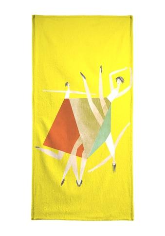 """Handtuch """"Dancing Yellow"""", Juniqe kaufen"""