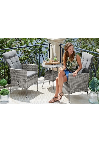 KONIFERA Gartenmöbelset »Belluno«, (5 tlg.), 2 Sessel, Tisch Ø 50 cm, Polyrattan kaufen