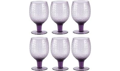 Rotweinglas »Villa Collection Rotweinglas Groove«, (6 tlg.), 6 teilig Durchmesser ? 8 cm kaufen