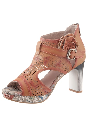 LAURA VITA Sandalette »Hicao«, mit seitlicher Zierblüte kaufen