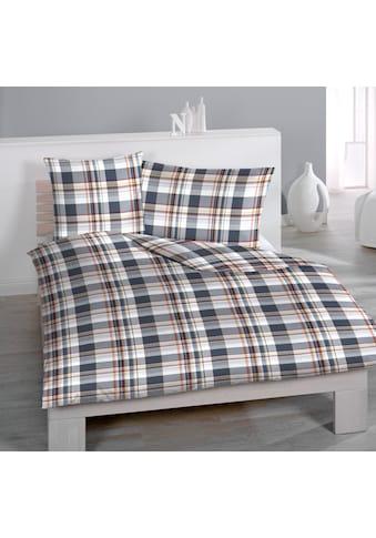 HOME FASHION Bettbezug »Gregory Check Digitaldruck«, (1 St.), verdeckter Reissverschluss kaufen