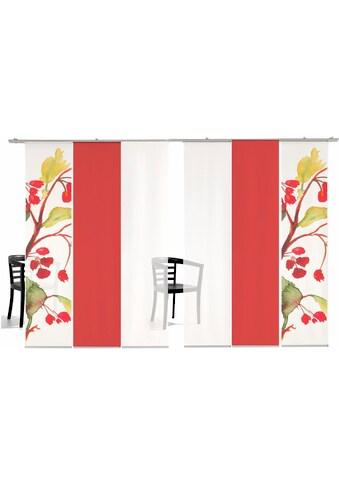 Schiebegardine, »Kirschblüten Farbig«, emotion textiles, Klettband 6 Stück kaufen