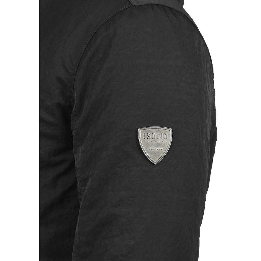 Solid Winterjacke »Daemon«, warme Jacke mit abnehmbarer Kapuze