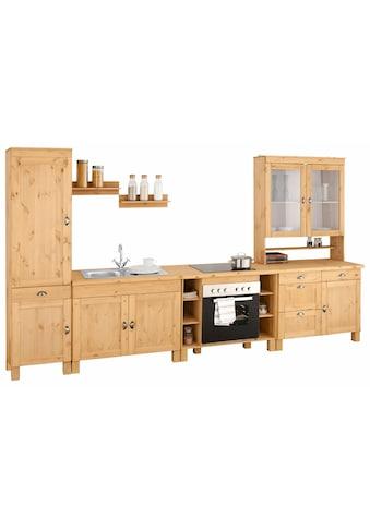 Home affaire Küchenzeile »Oslo«, ohne E-Geräte, Breite 350 cm, 35 mm starke... kaufen