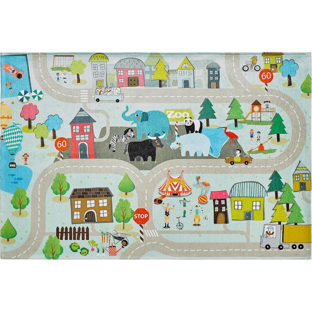 Obsession Kinderteppich »My Torino Kids 231«, rechteckig, 10 mm Höhe, Strassen-Spielteppich